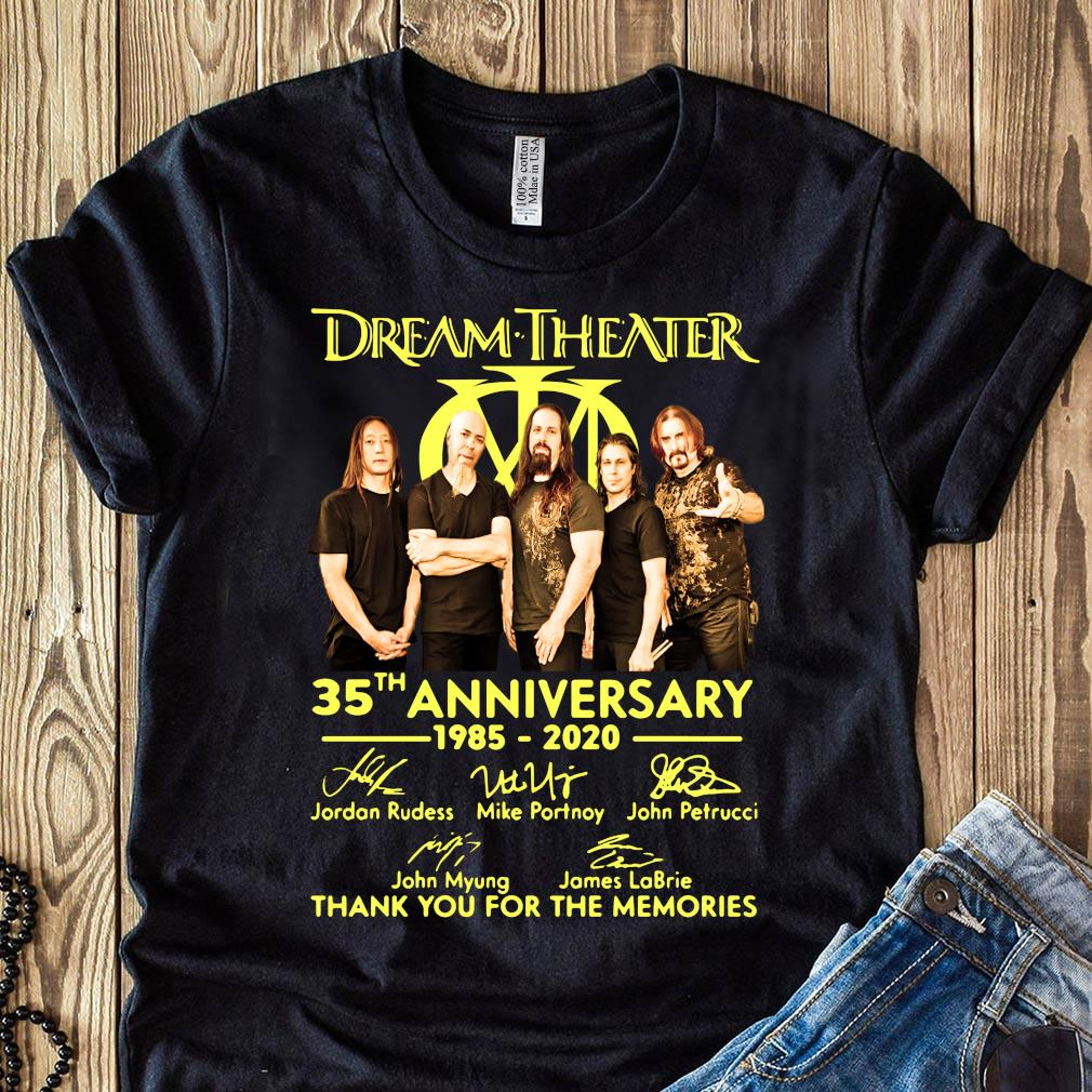 Dream Theater Progressive Metal Band 35th Anniversary 1985-2020 Member Signature Shirt