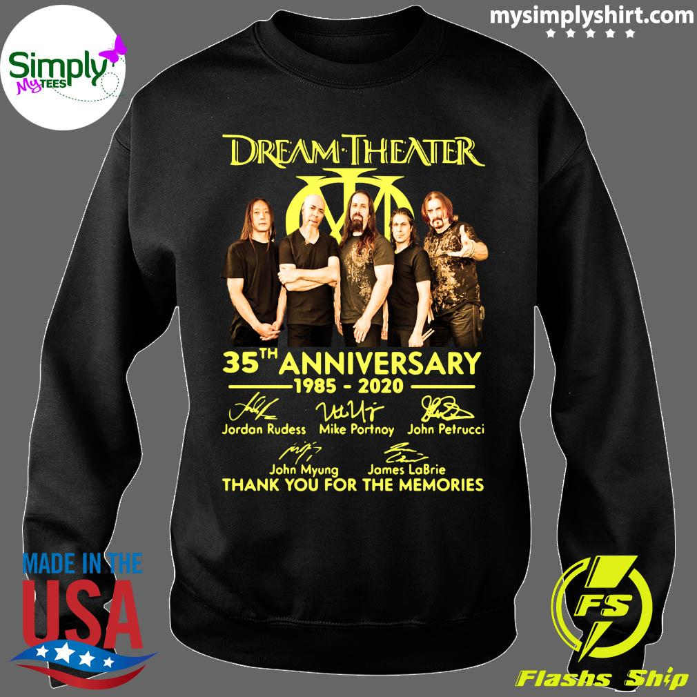 Dream Theater Progressive Metal Band 35th Anniversary 1985-2020 Member Signature Shirt Sweater