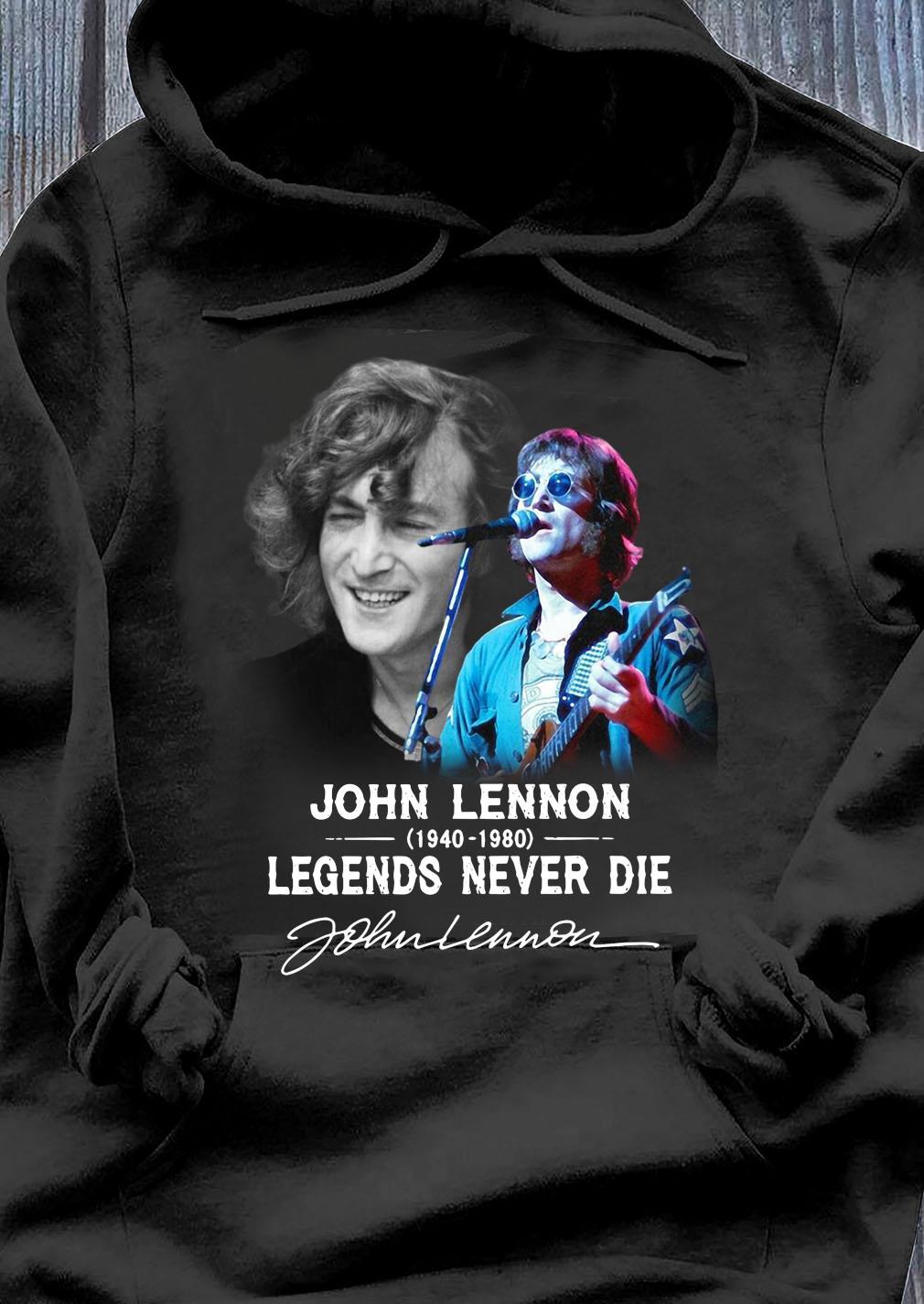 John Lennon 1940 2080 Legends Never Die Signature Shirt Hoodie