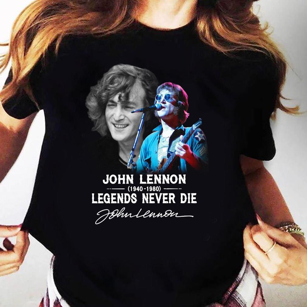 John Lennon 1940 2080 Legends Never Die Signature Shirt Ladies tee