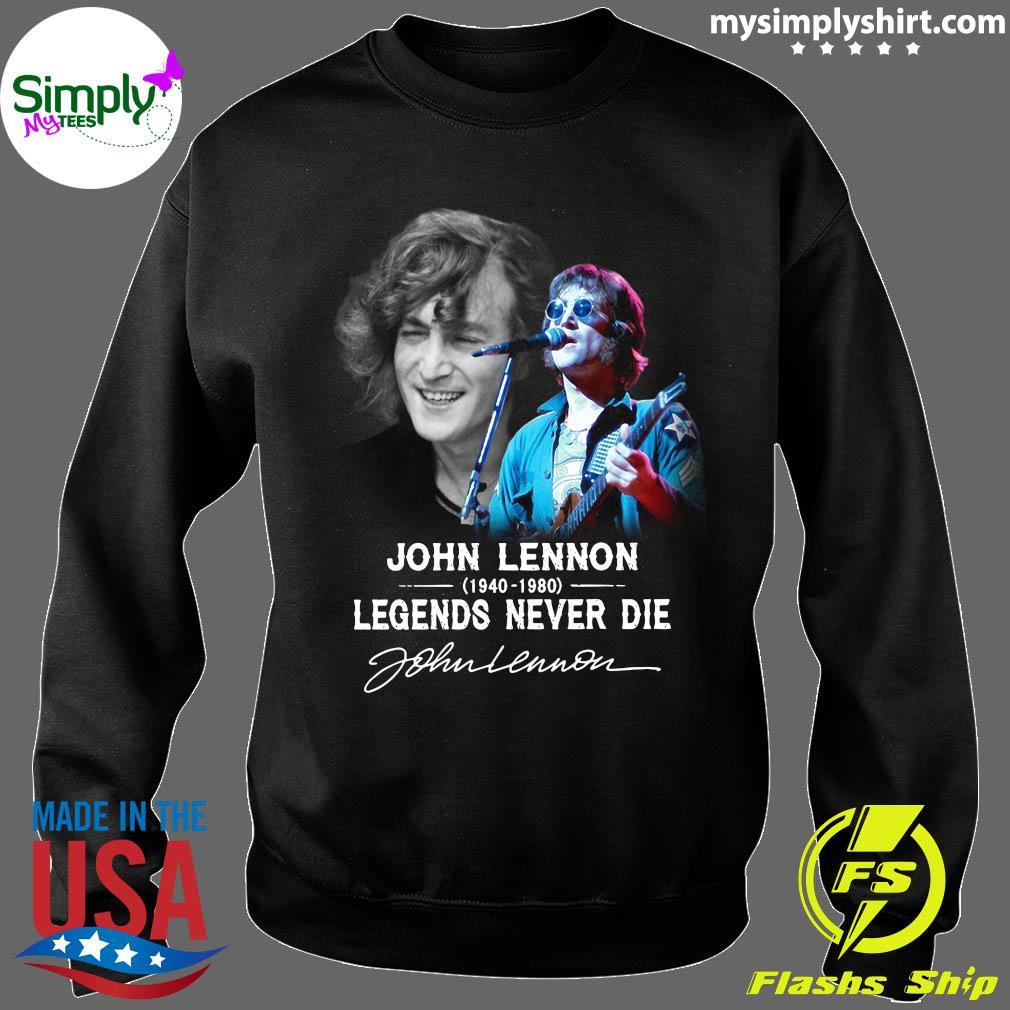 John Lennon 1940 2080 Legends Never Die Signature Shirt Sweater