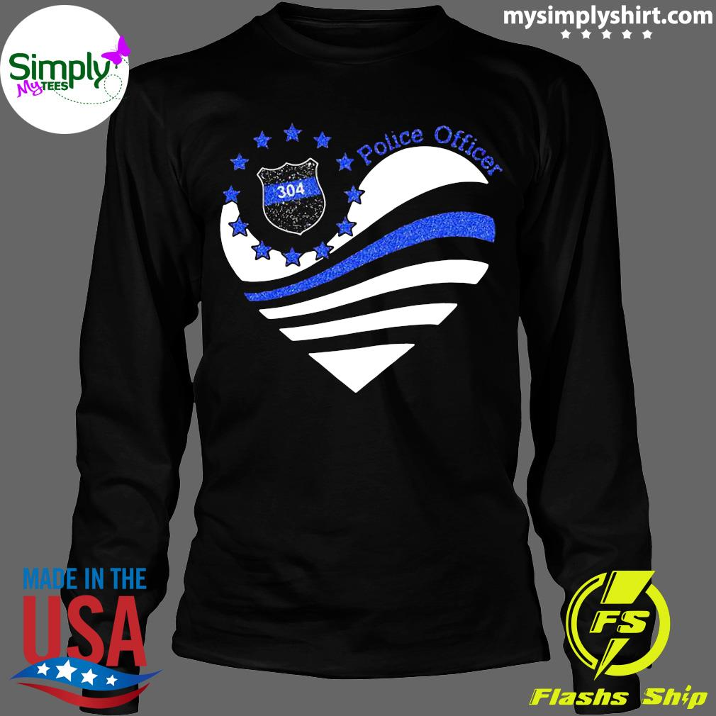 Police Officer 304 Heart Shirt Longsleeve