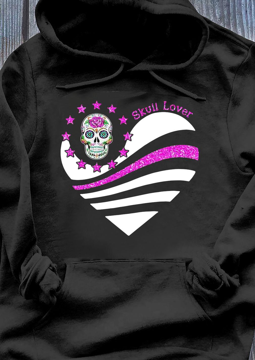 Skull Lover Heart Shirt Hoodie