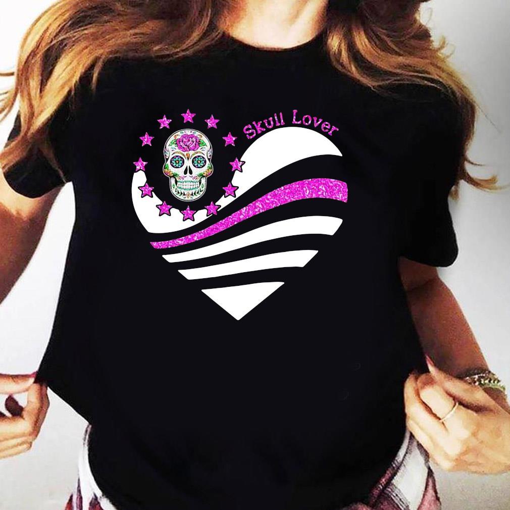 Skull Lover Heart Shirt Ladies tee