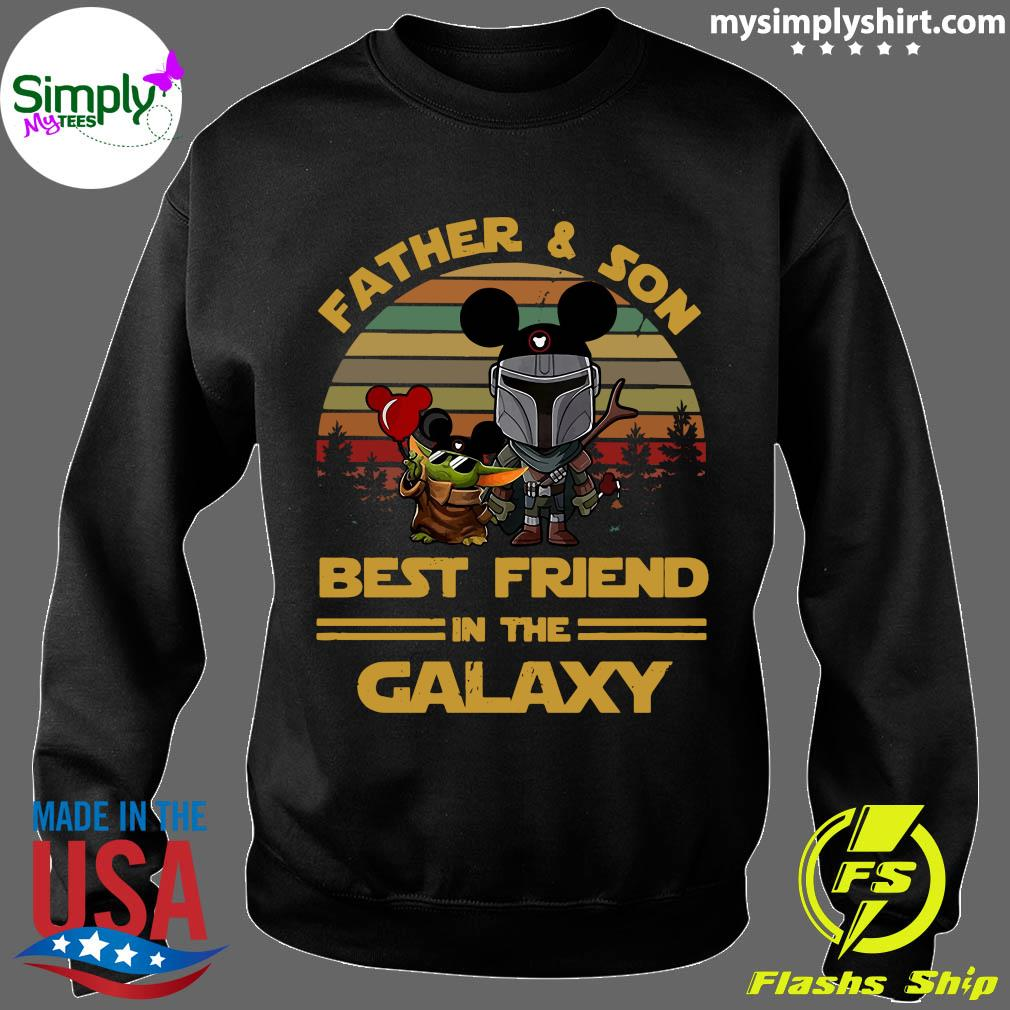 The Mandalorian And Baby Yoda Father And Son Best Friend In The Galaxy Vintage Shirt Sweater