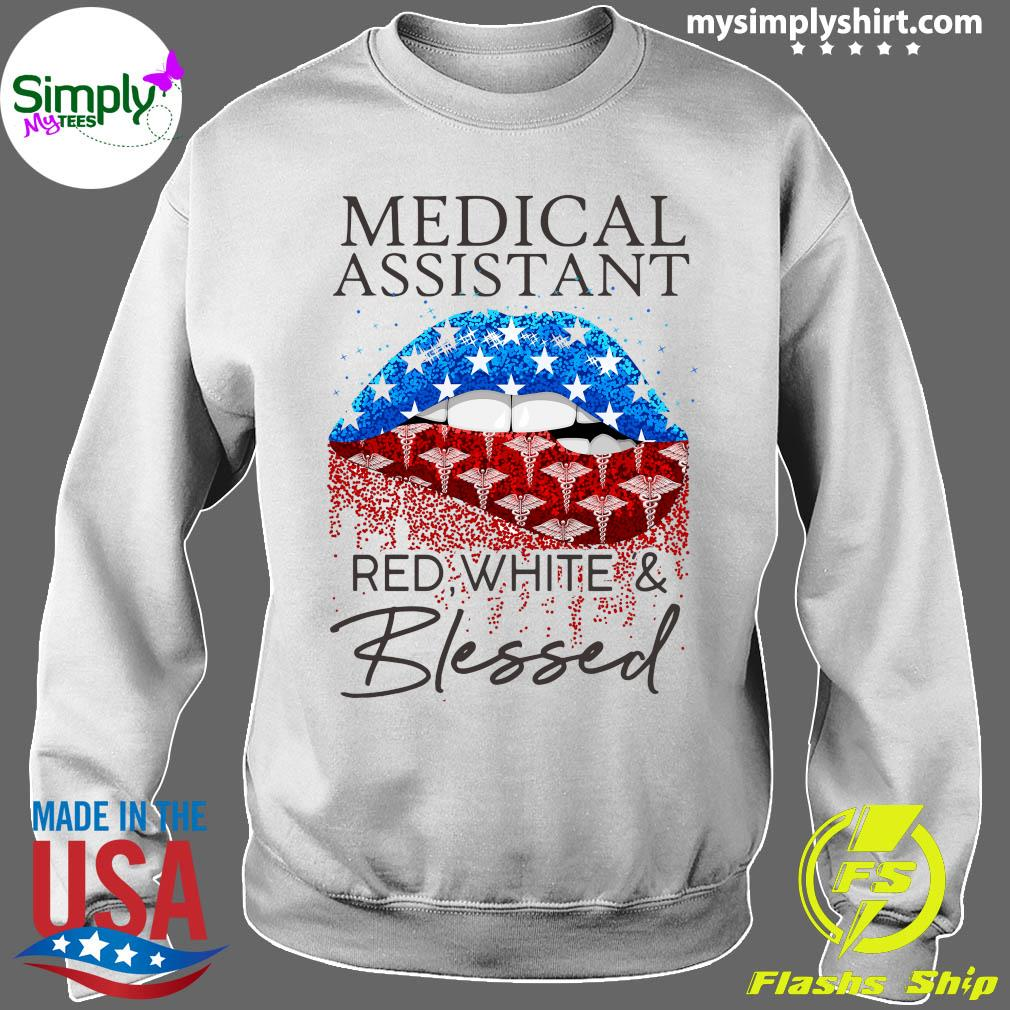 Lips Medical Assistant Red White And Blessed Shirt Sweater