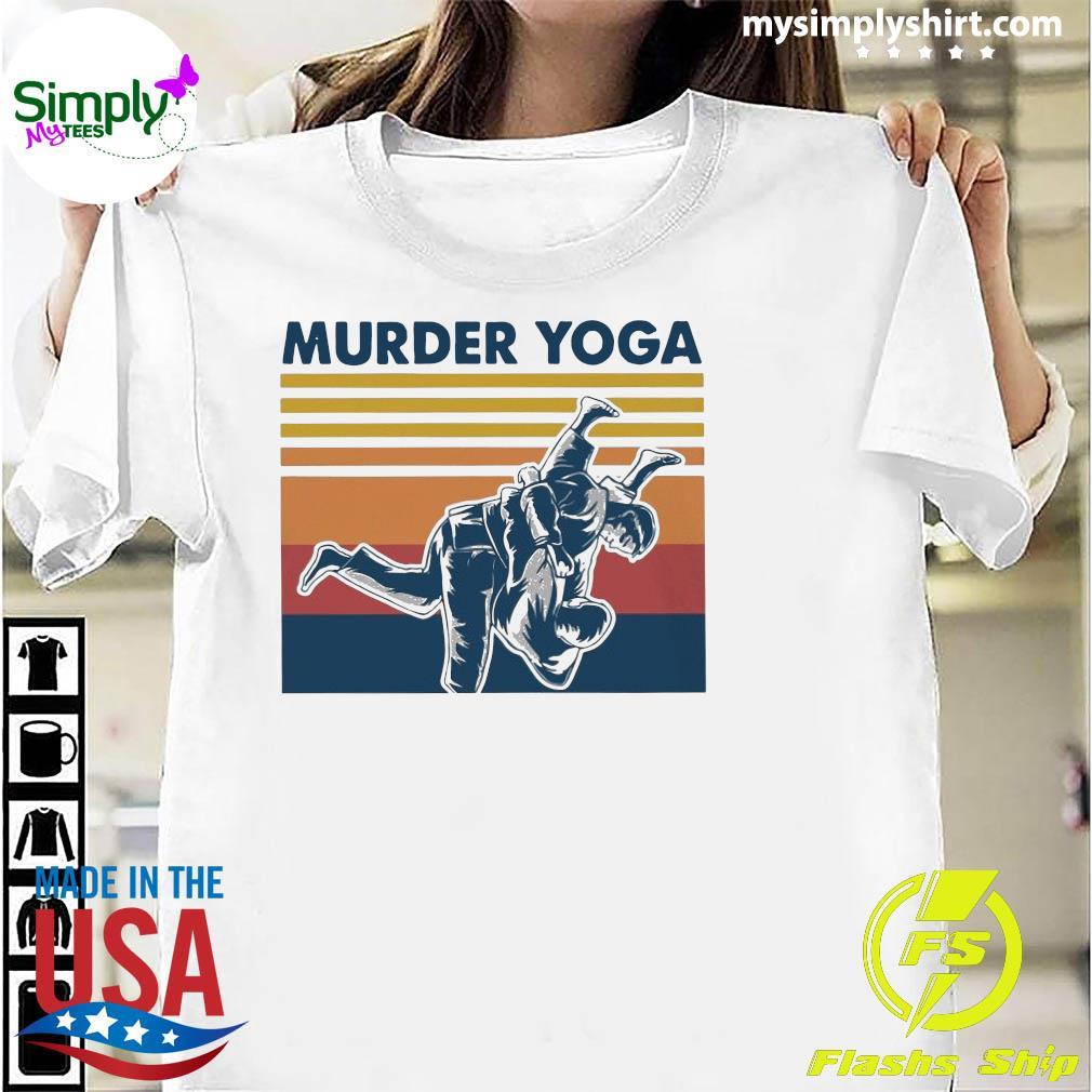 Jiu Jitsu Murder Yoga Vintage Shirt