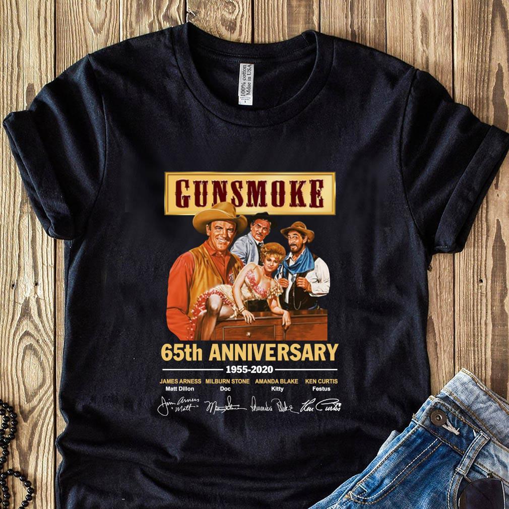 Short Sleeves Shirt Unisex Hoodie Sweatshirt For Mens Womens Ladies Kids Gunsmoke 65th anniversary 1955 2020 shirt
