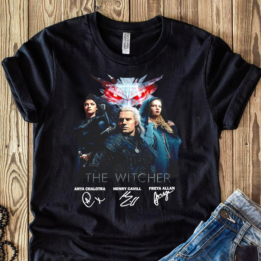 The Witcher Anya Chalotra Henry Cavill Freya Allan Signature Shirt
