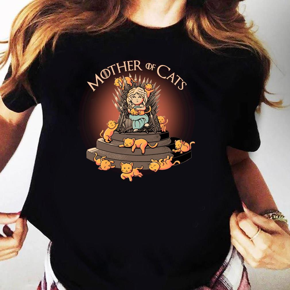 Top Daenerys Targaryen Mother Of Cats Game Of Thrones Shirt Ladies tee