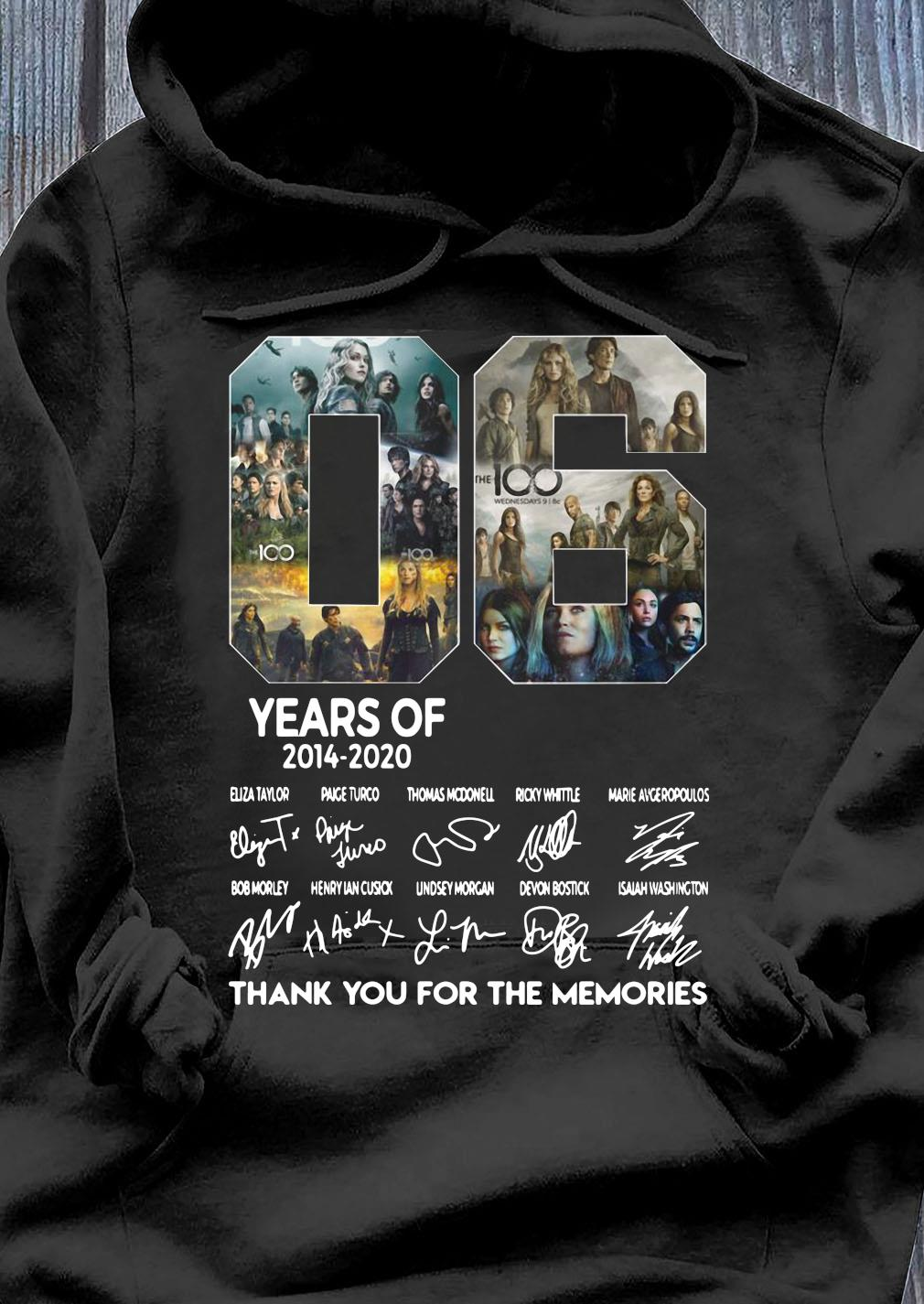 06 Years Of 2014 2020 Thank You For The Memories Signature Shirt Hoodie