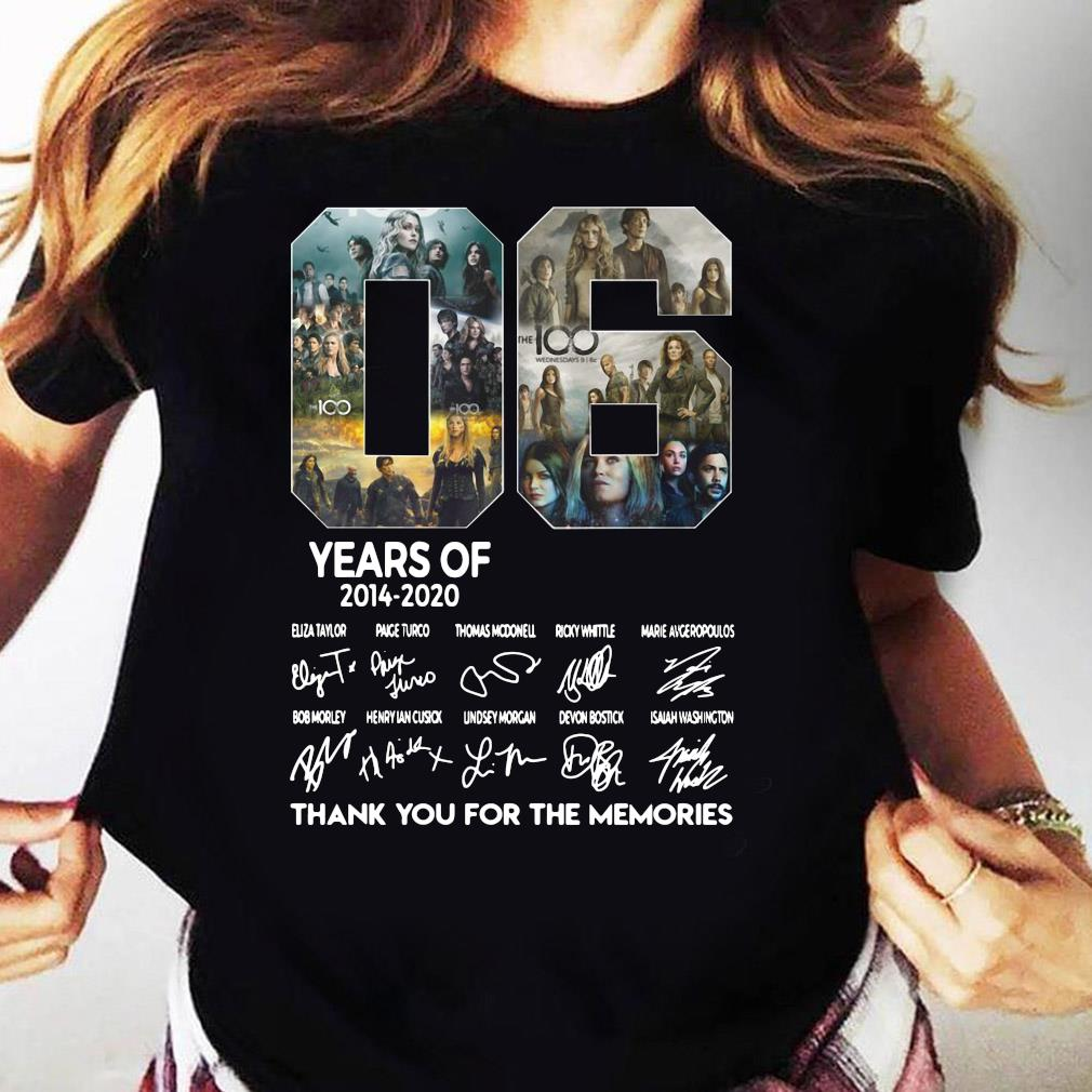 06 Years Of 2014 2020 Thank You For The Memories Signature Shirt Ladies tee