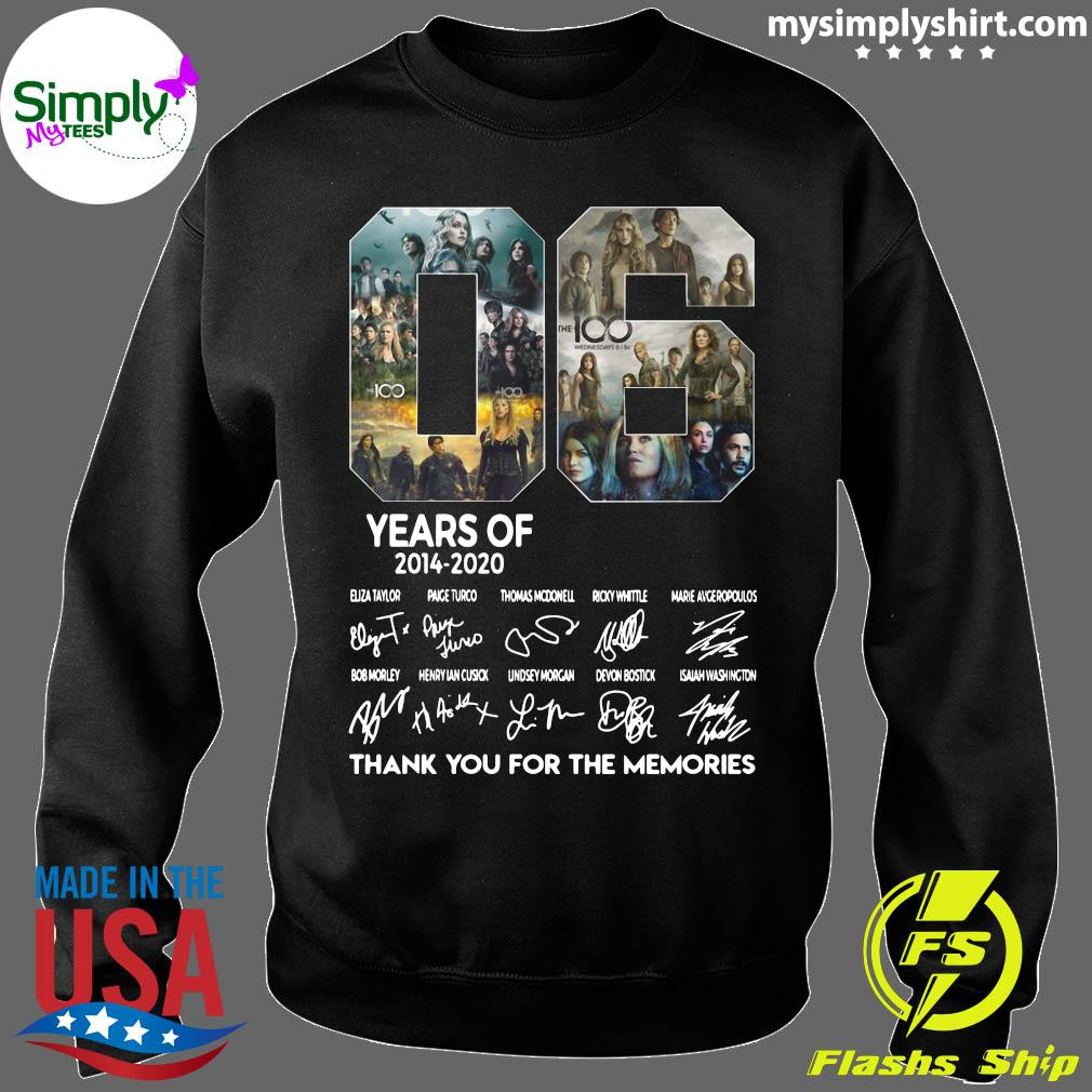 06 Years Of 2014 2020 Thank You For The Memories Signature Shirt Sweater