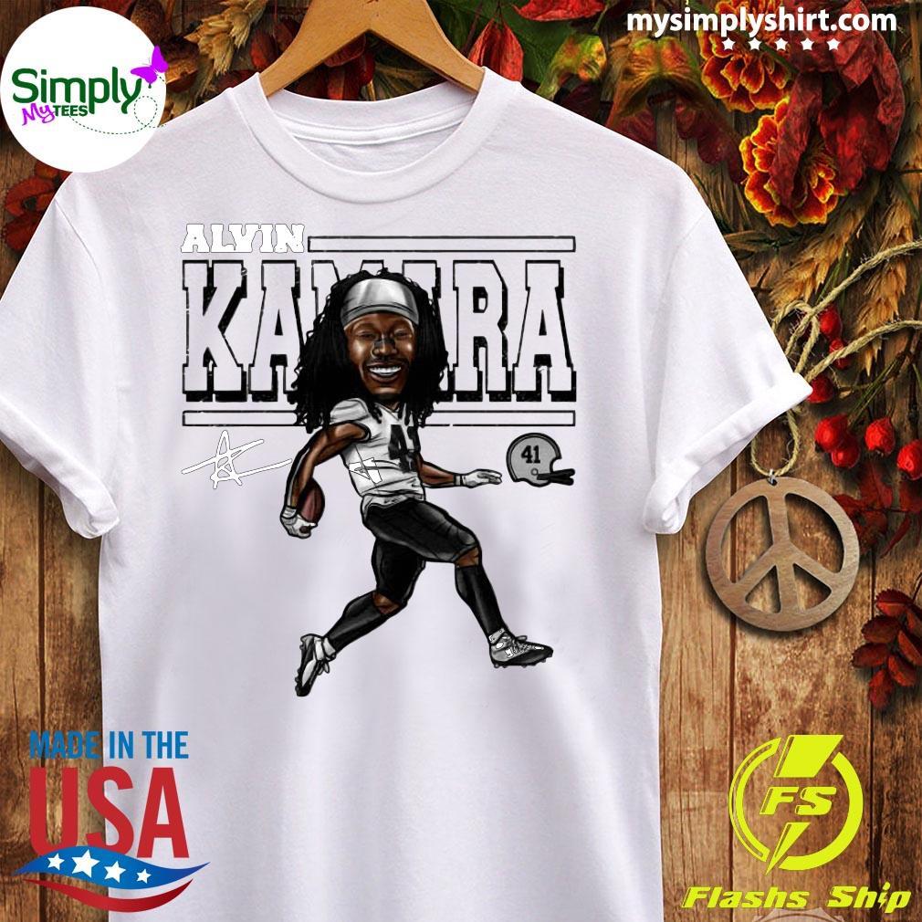 Alvin Kamara Cartoon New Orleans Football Signature Shirt Ladies tee