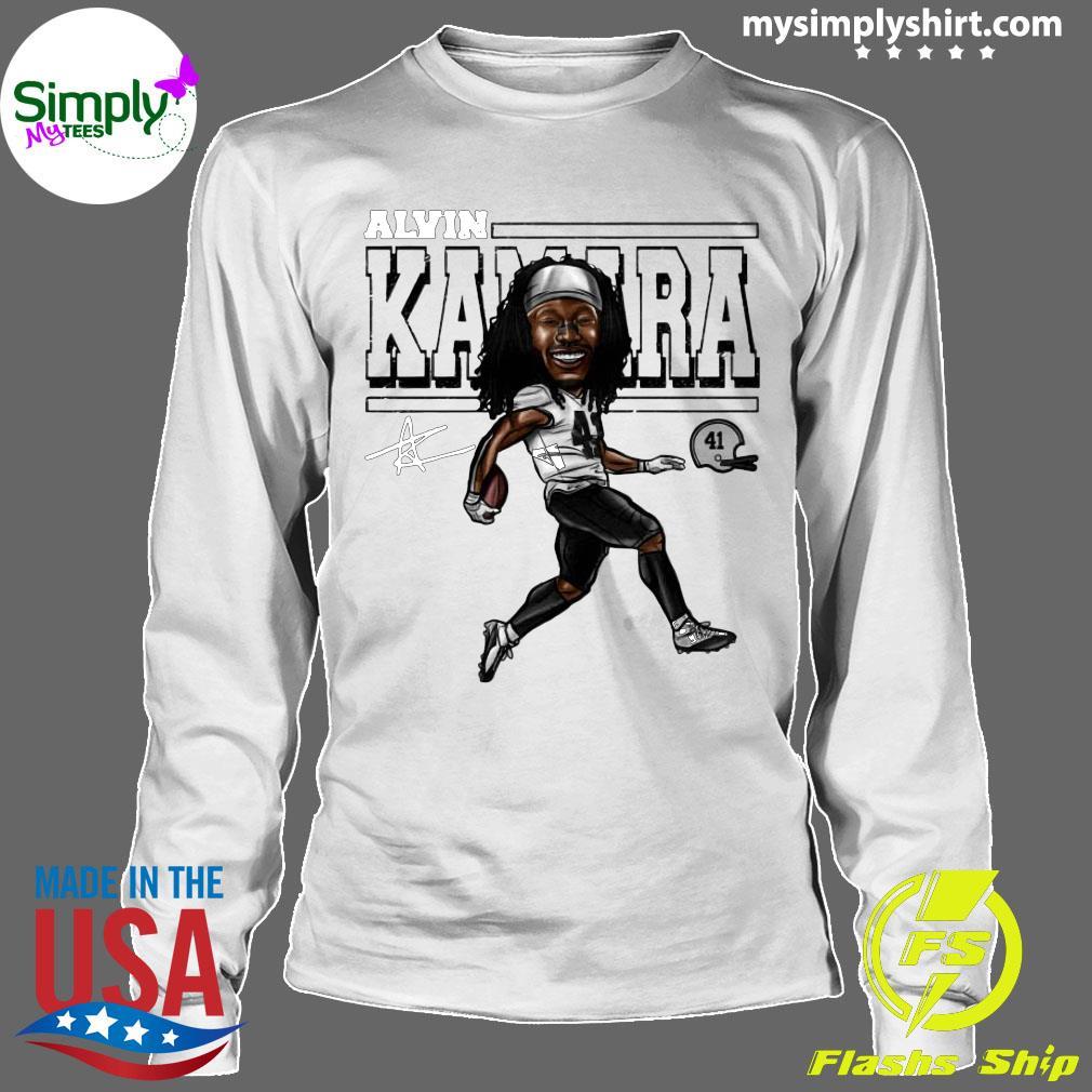 Alvin Kamara Cartoon New Orleans Football Signature Shirt Longsleeve