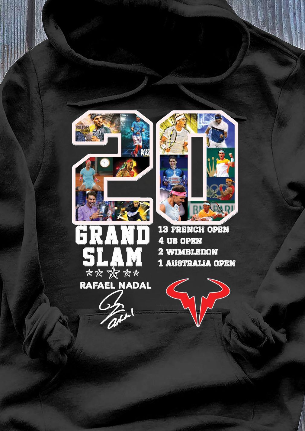 Champion 20 Grand Slam Rafael Nadal Signature T-Shirt Hoodie