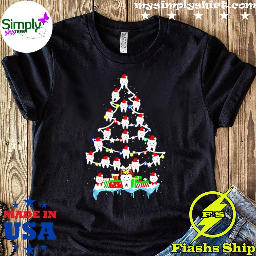 Dentist Dental Hygienist Teeths Christmas Tree Shirt