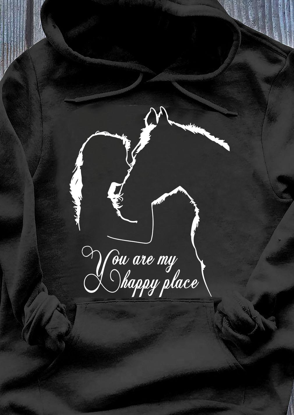 Girl And House You Are My Happy Place Shirt Hoodie