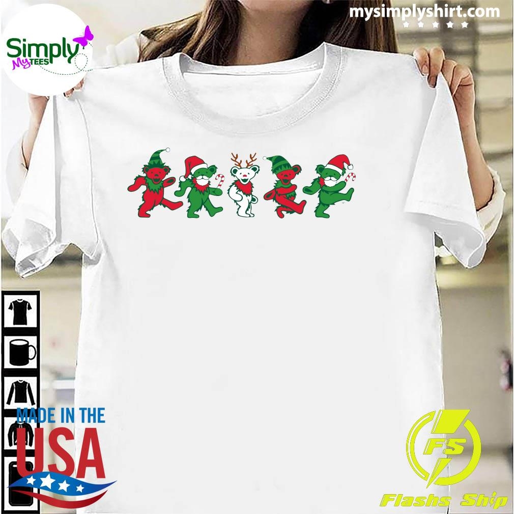 Grateful Dead Dancing Bears Christmas shirt