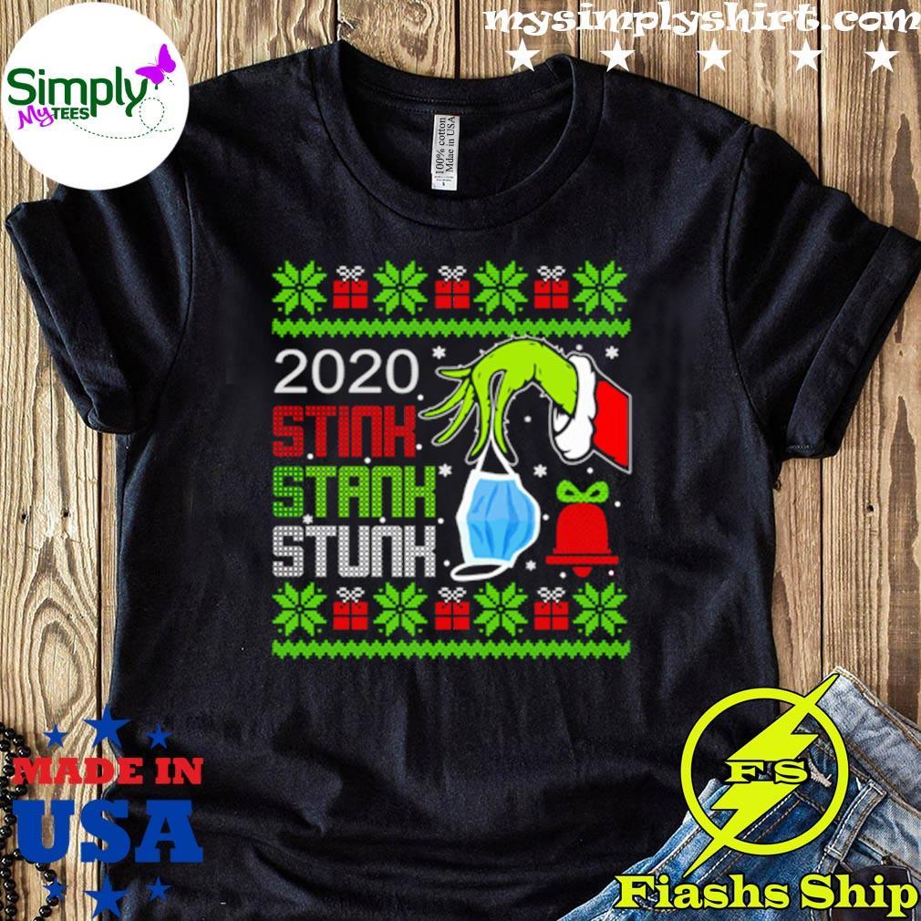 2020 Christmas G r I n c h 2020 Stink Stank Stunk Shirt Christmas Isnt Canceled by G r I n c h Christmas Quarantined Shirt For Gift Men Women Kids