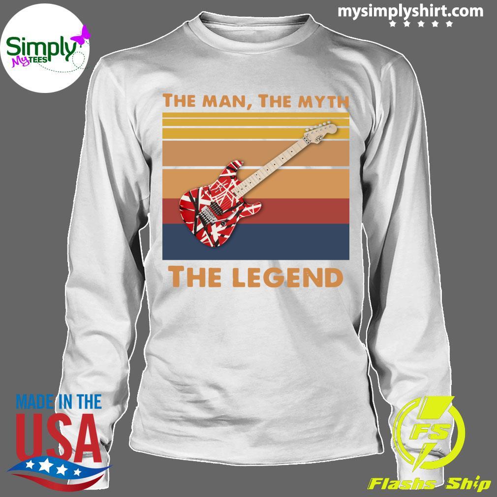 Guitar The Man The Myth The Legend Vintage Shirt Longsleeve