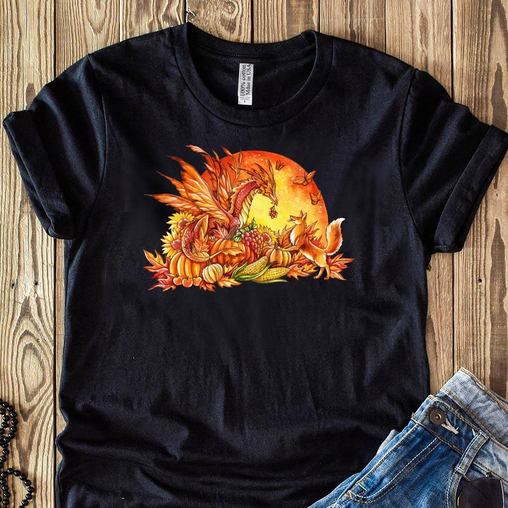 Halloween Pumpkin Dragon Fox Butterflies Shirt