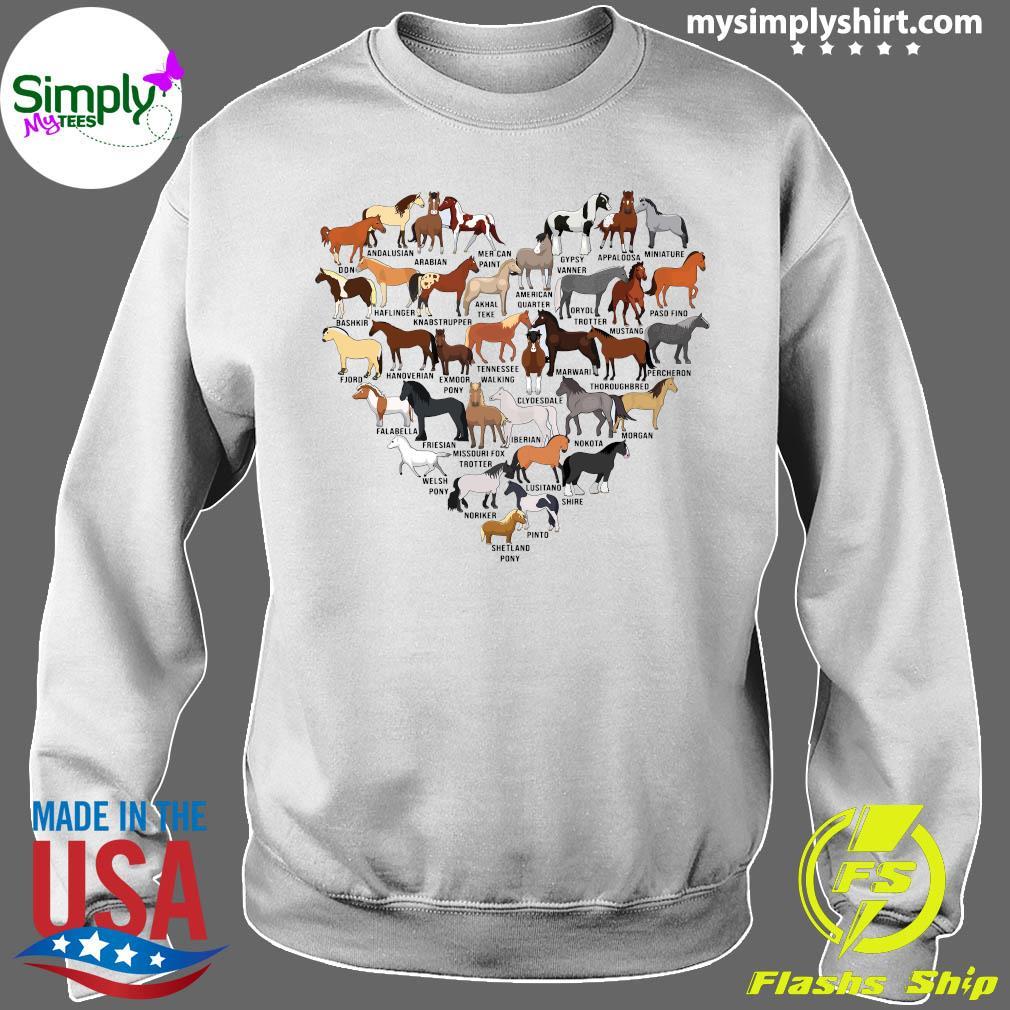 Horse Breed Of Horses Heart Shirt Sweater
