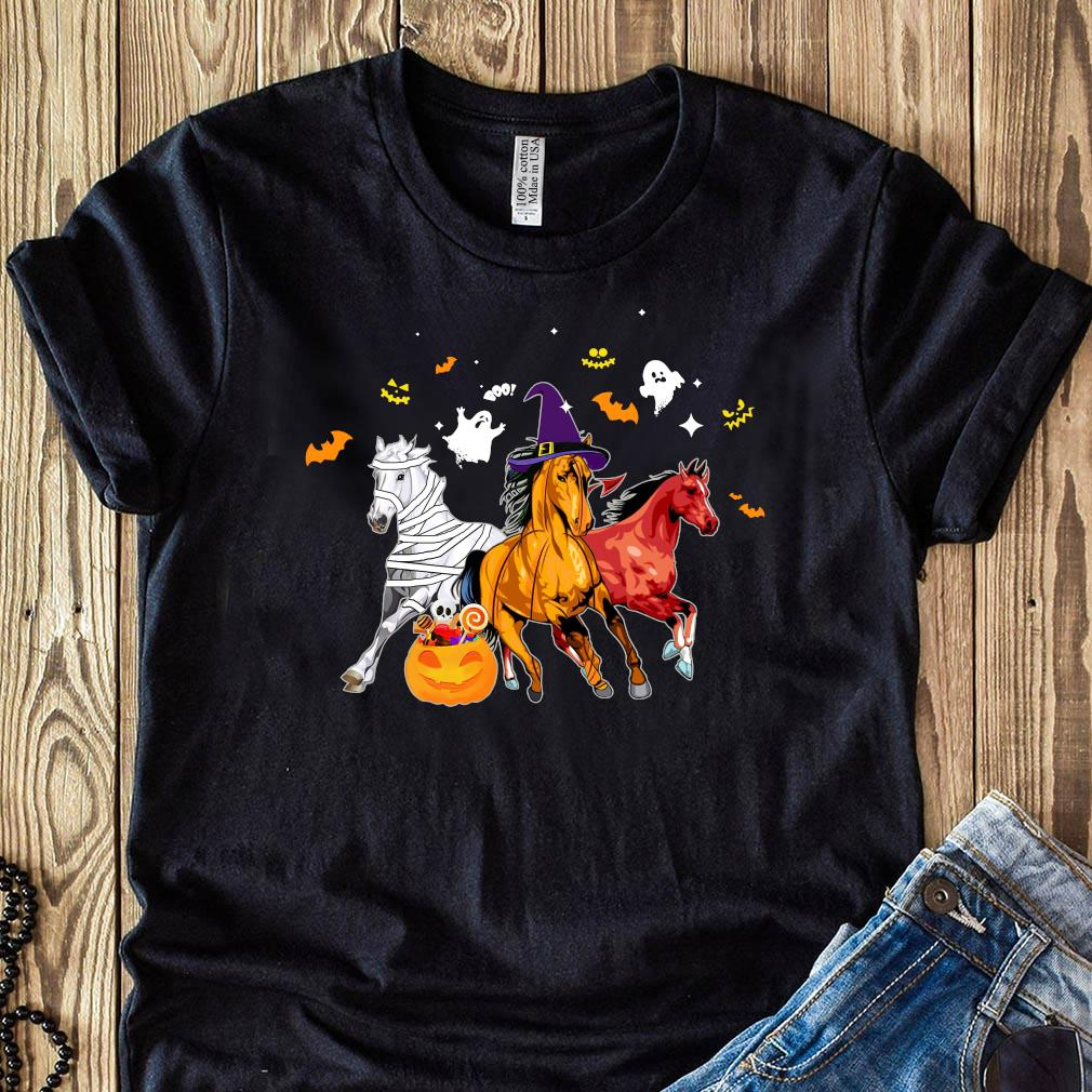 Horse Happy Halloween Pumpkin Shirt