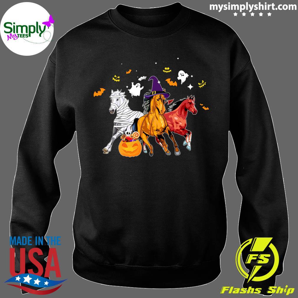 Horse Happy Halloween Pumpkin Shirt Sweater