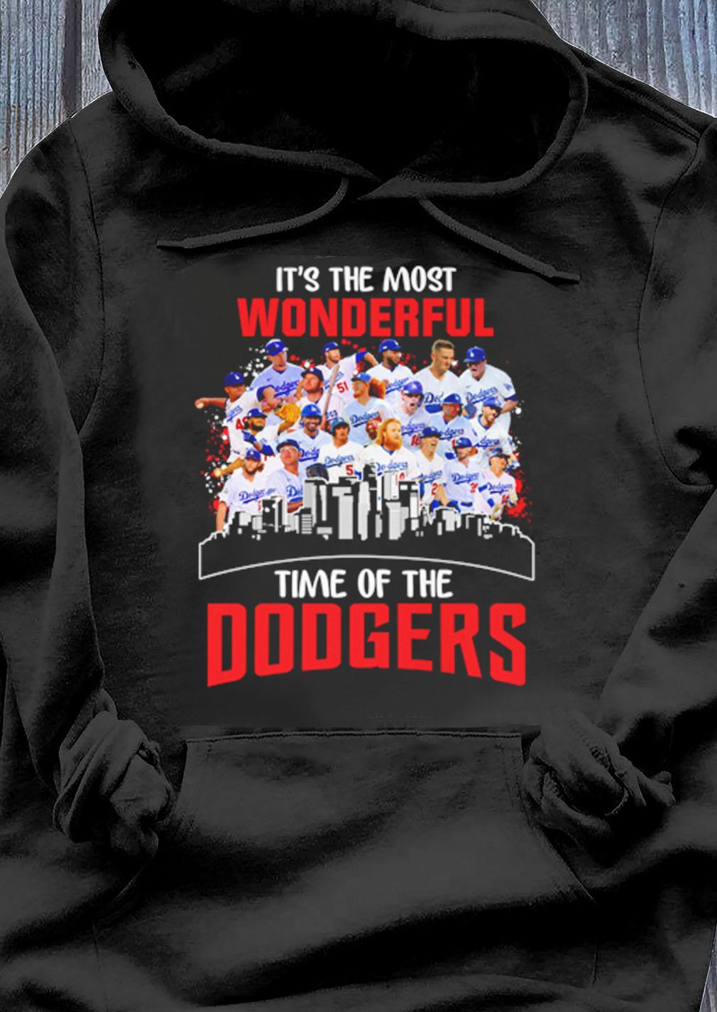 Is The Most Wonderful Time Of The Los Angeles Dodgers Shirt Hoodie