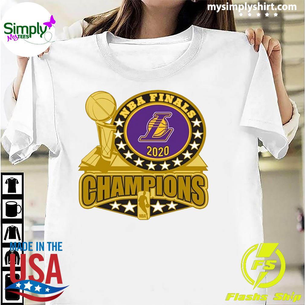 LA Lakers 2020 NBA Champions Trophy Shirt, hoodie, sweater ...