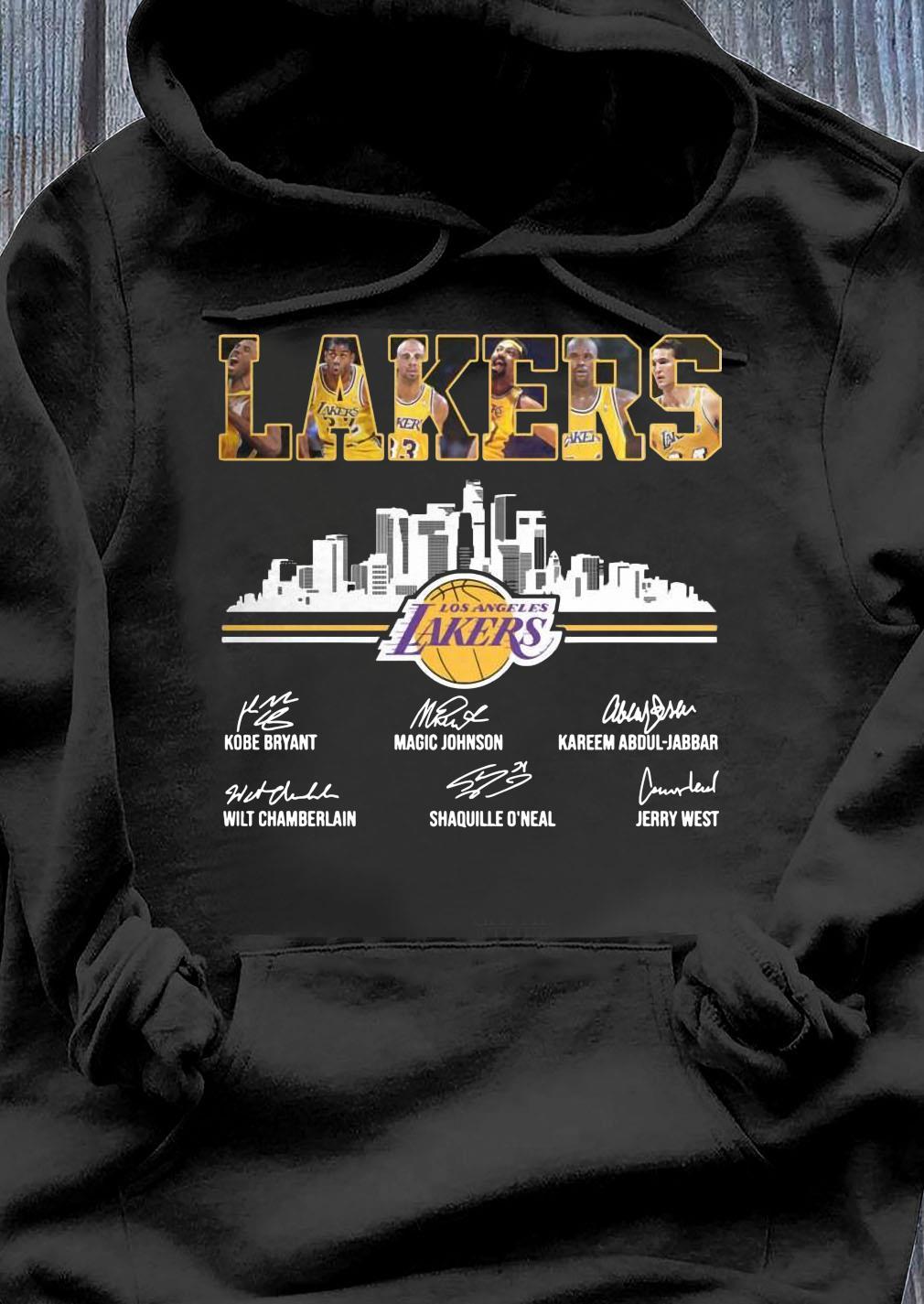 Lakers Los Angeles Kobe Bryant Magic Johnson Signature Shirt Hoodie