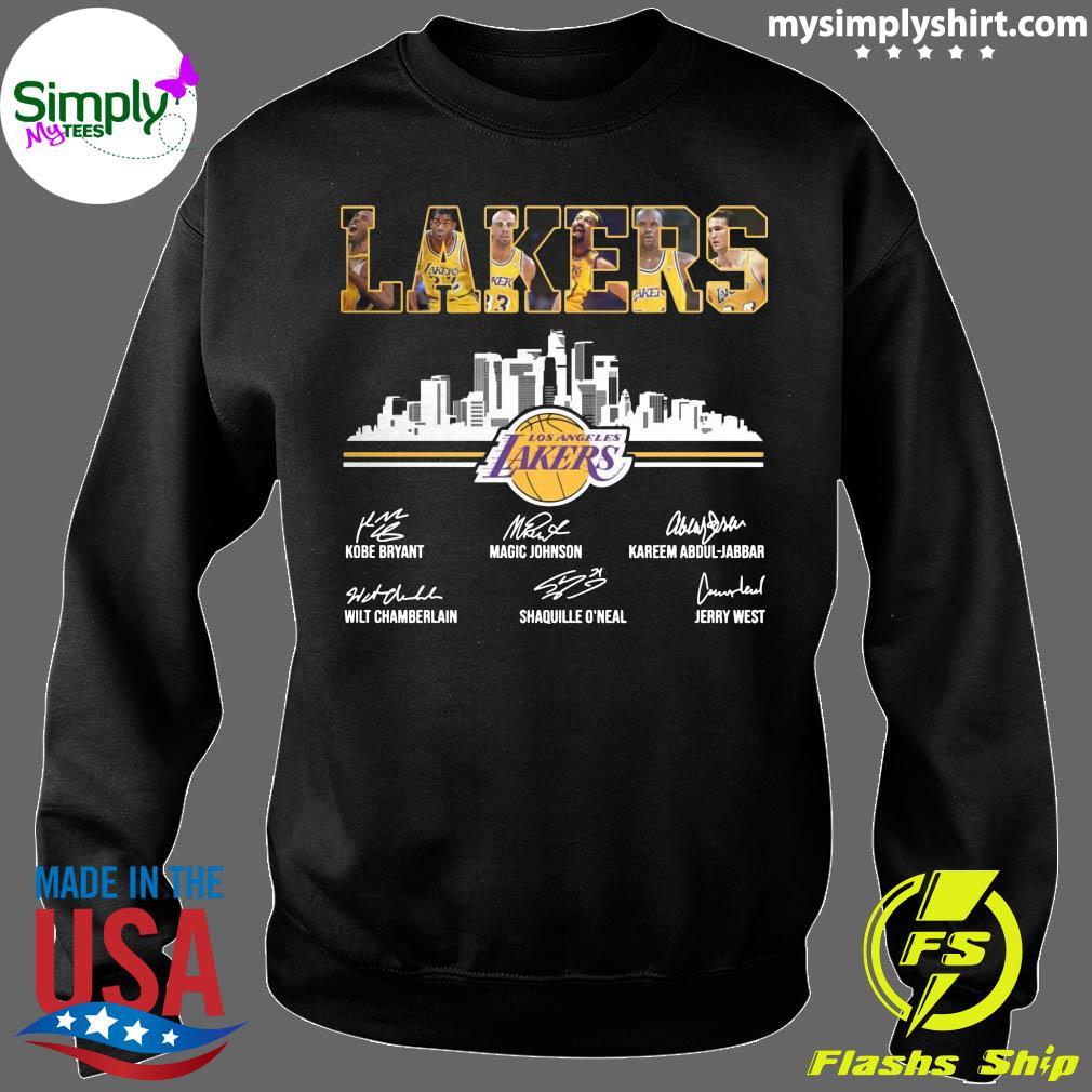 Lakers Los Angeles Kobe Bryant Magic Johnson Signature Shirt Sweater