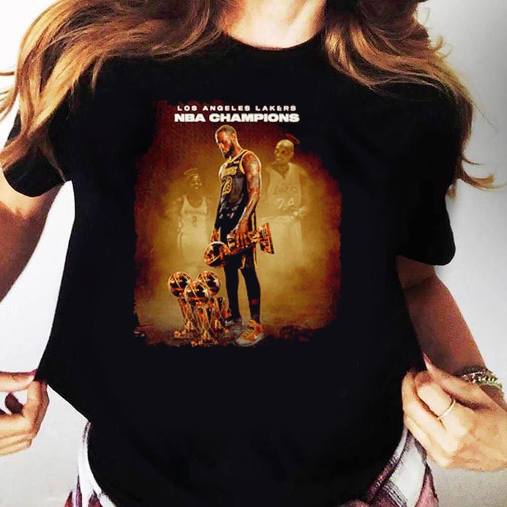 Lebron James Los Angeles Lakers Nba Champions Shirt Ladies tee