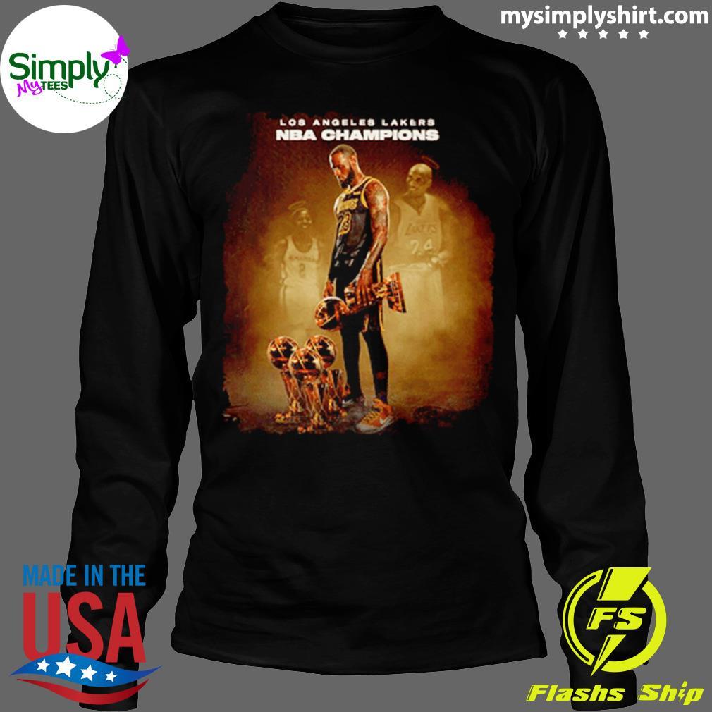 Lebron James Los Angeles Lakers Nba Champions Shirt Longsleeve