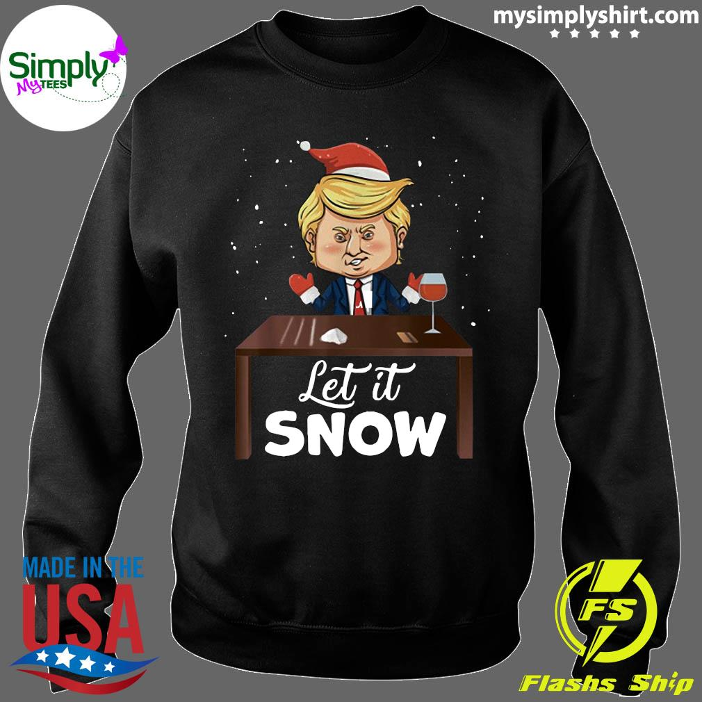 Let It Snow Trump Cocaine Xmas Ugly Christmas Shirt Sweater
