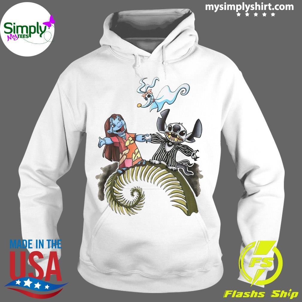 Lilo And Stitch Halloween Jack Skellington Sally Zero Shirt Hoodie