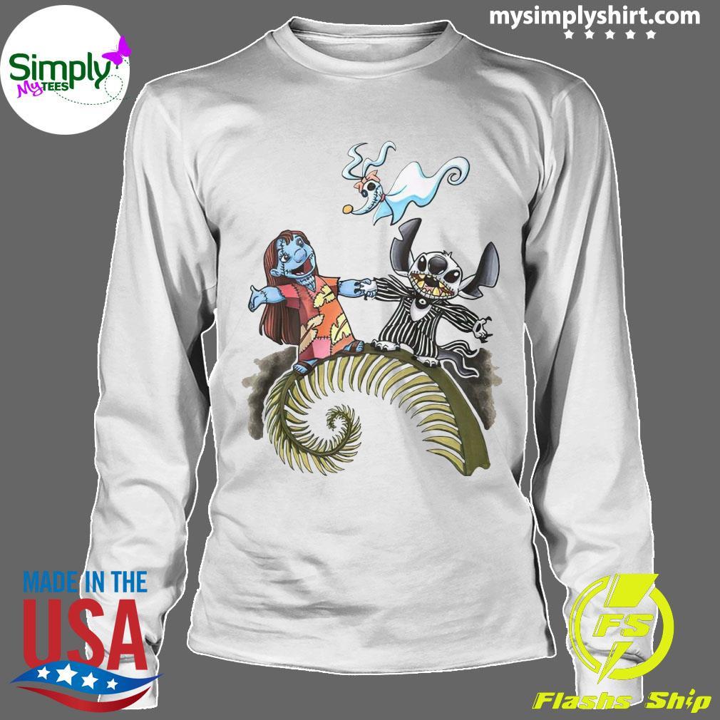 Lilo And Stitch Halloween Jack Skellington Sally Zero Shirt Longsleeve