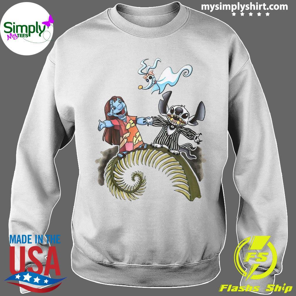 Lilo And Stitch Halloween Jack Skellington Sally Zero Shirt Sweater