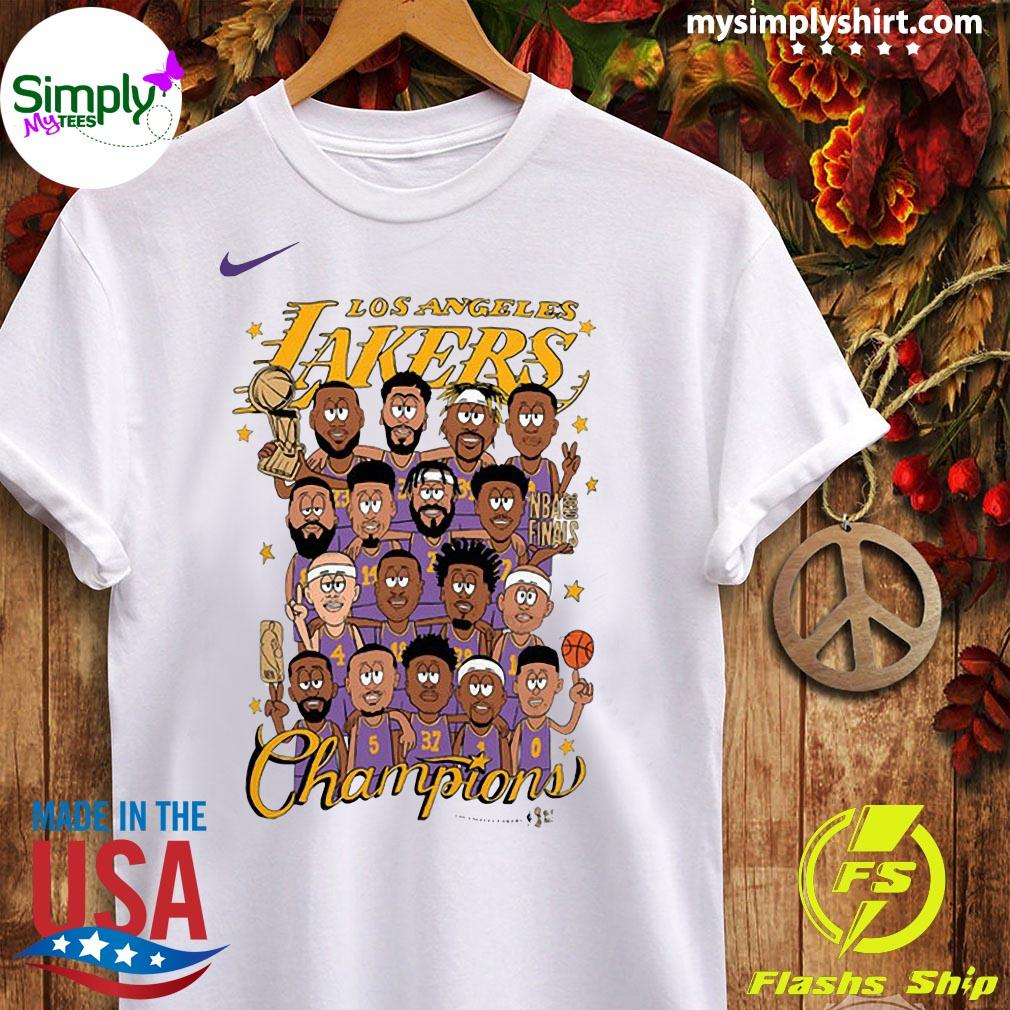 Los Angeles Lakers 2020 NBA Champions Roster Shirt Ladies tee