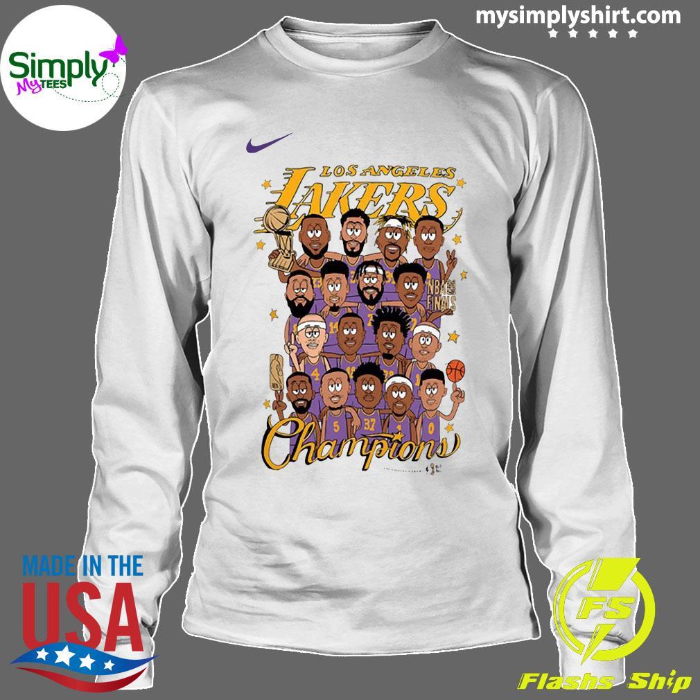 Los Angeles Lakers 2020 NBA Champions Roster Shirt Longsleeve