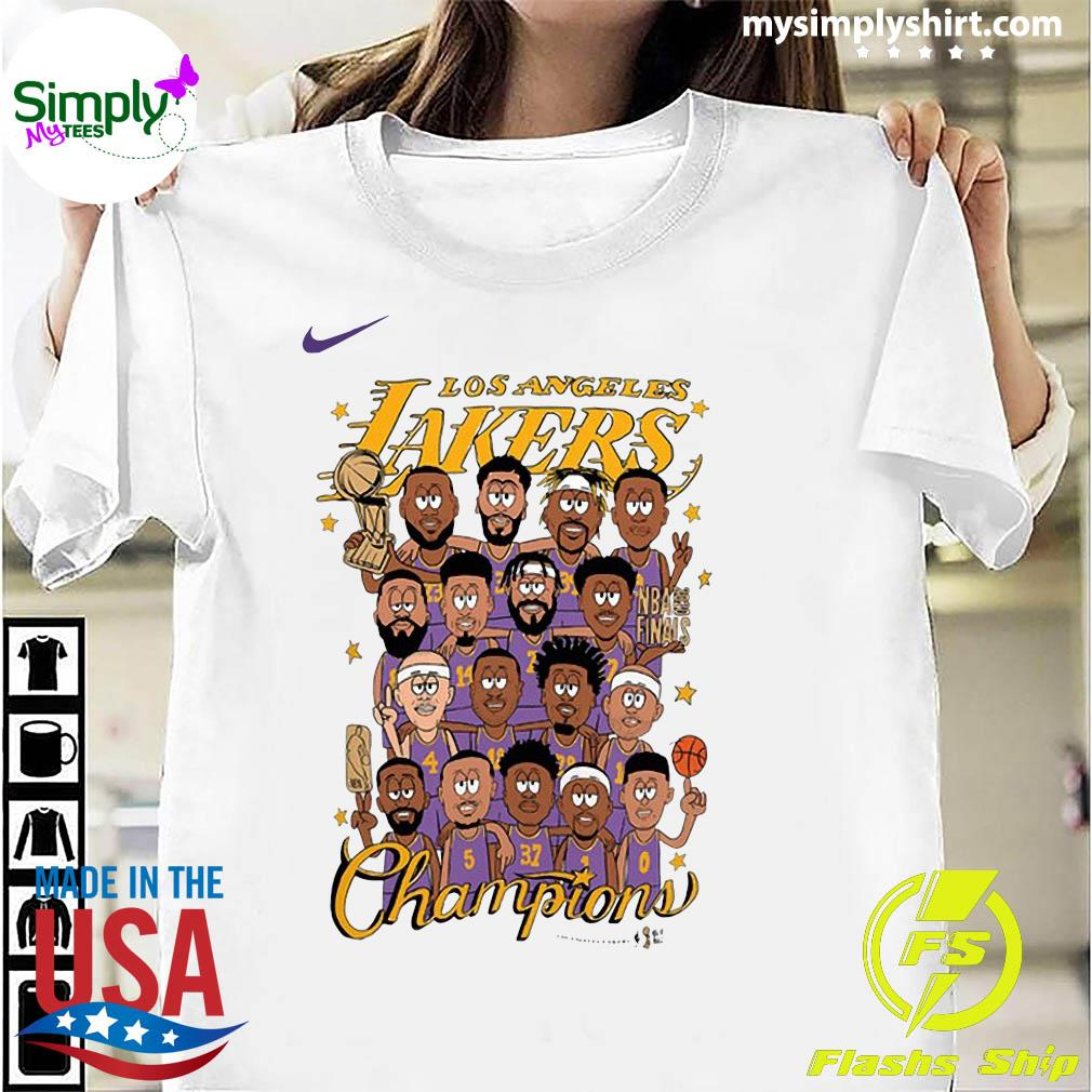 Los Angeles Lakers 2020 NBA Champions Roster Shirt