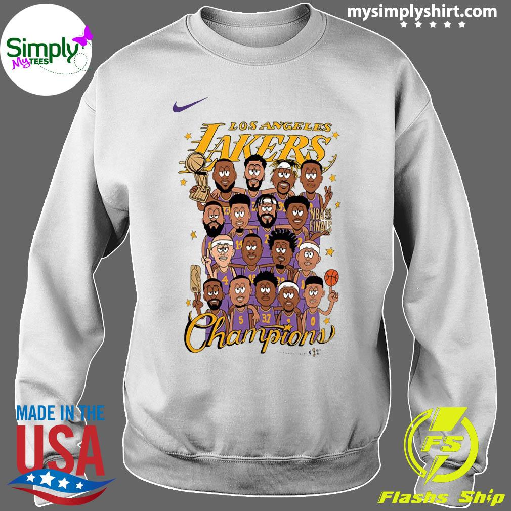 Los Angeles Lakers 2020 NBA Champions Roster Shirt Sweater
