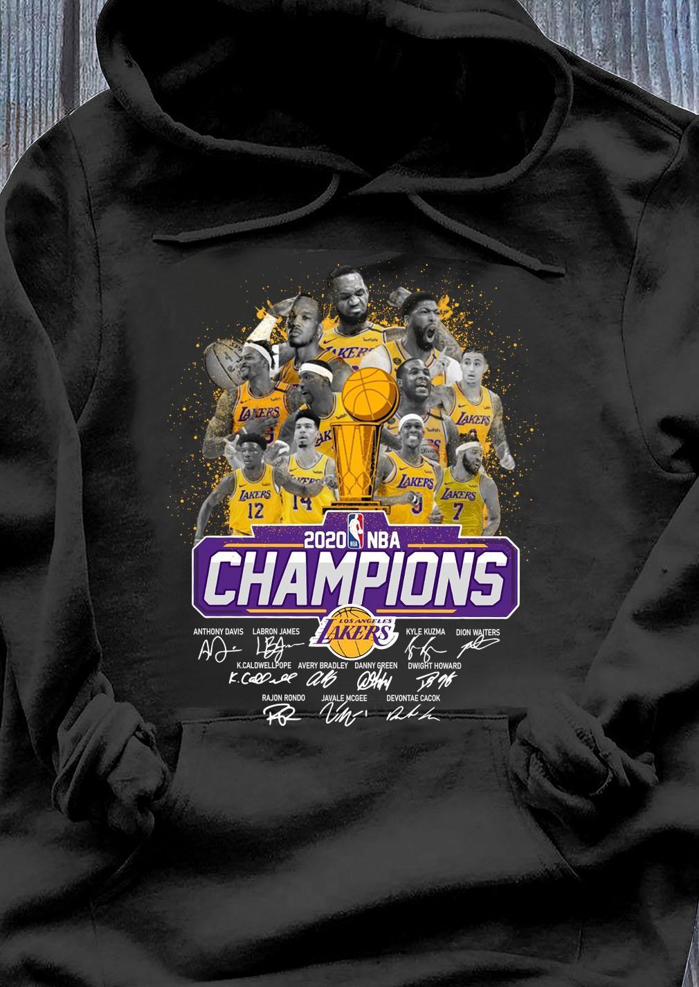 Los Angeles Lakers 2020 NBA Champions Signature Shirt Hoodie