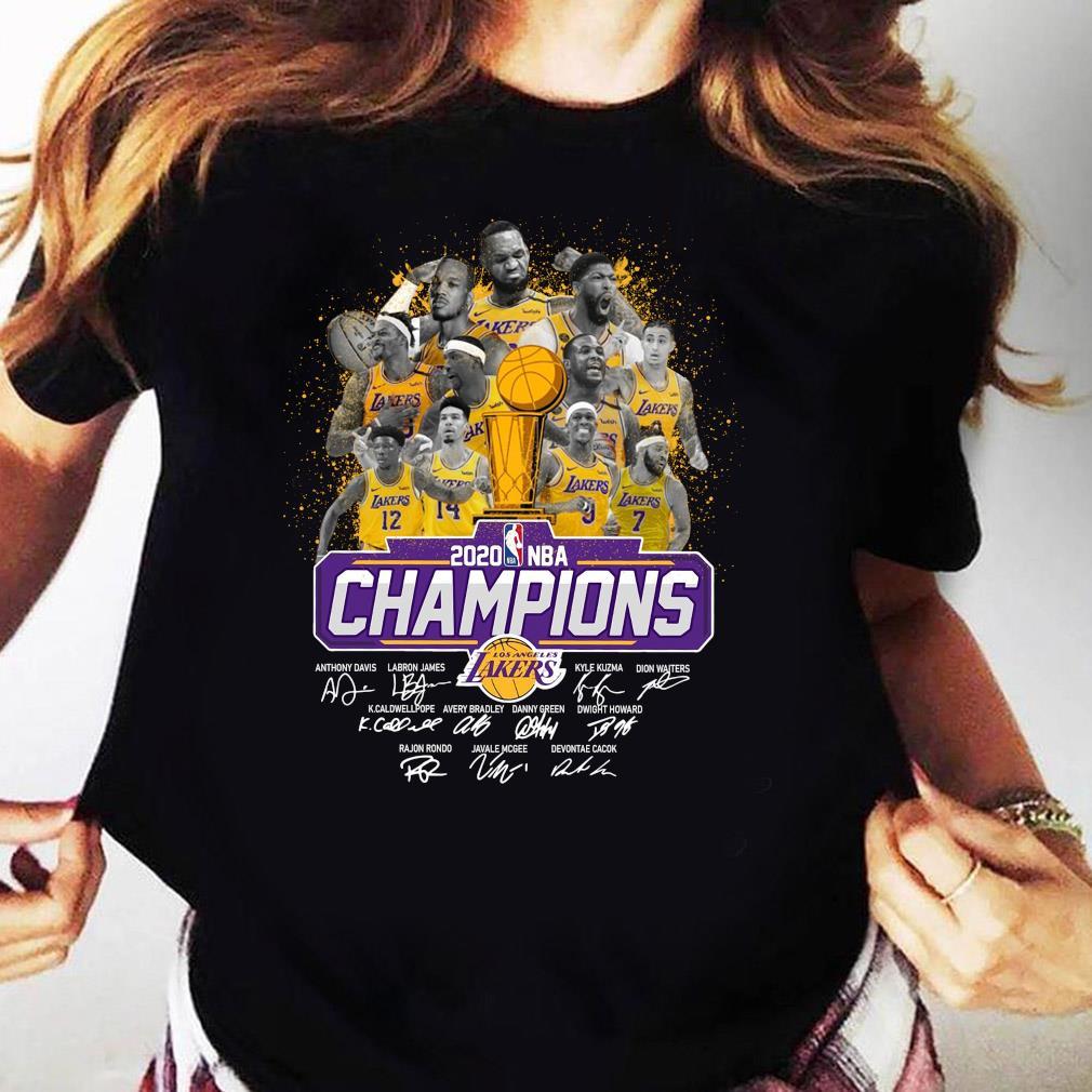 Los Angeles Lakers 2020 NBA Champions Signature Shirt Ladies tee