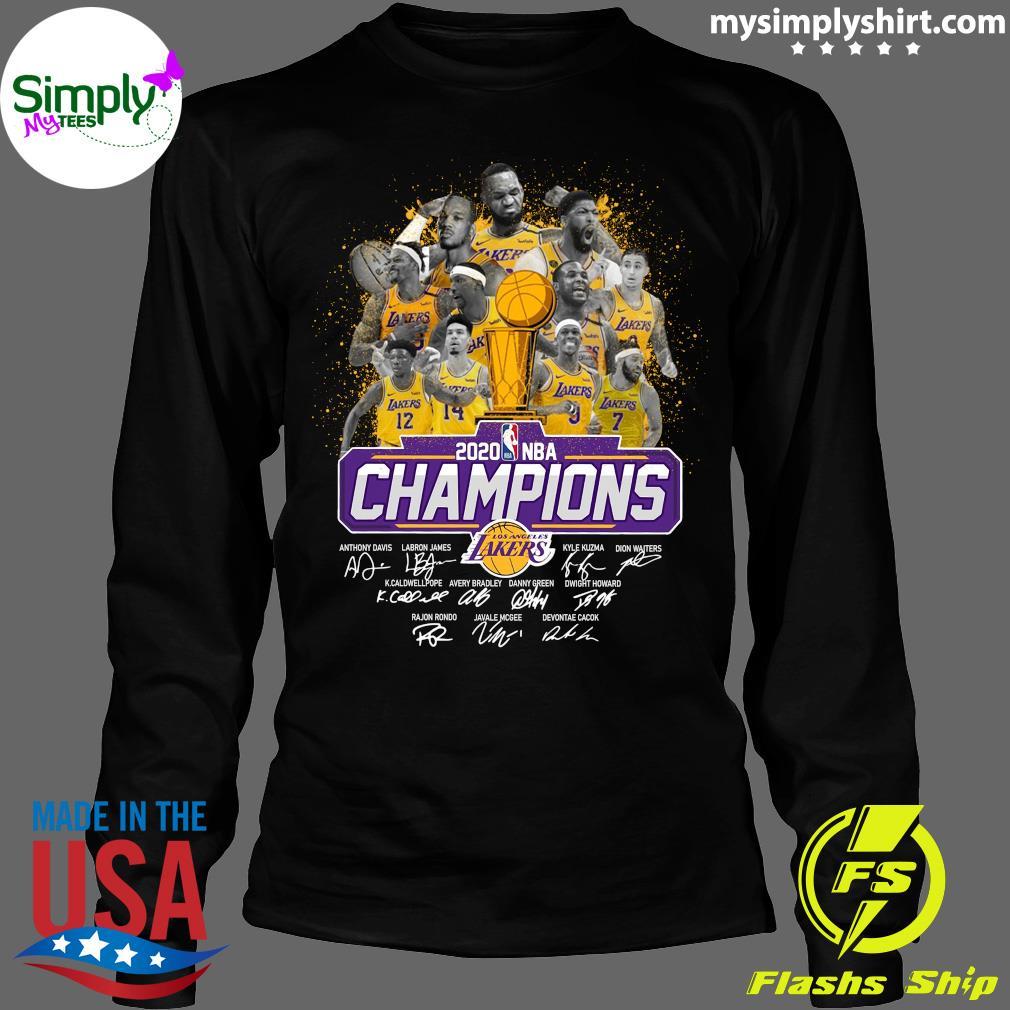 Los Angeles Lakers 2020 NBA Champions Signature Shirt Longsleeve