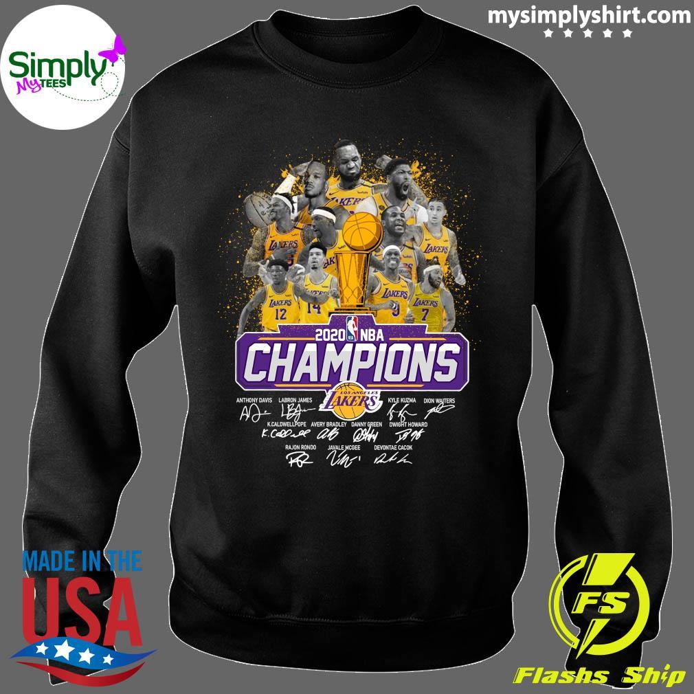 Los Angeles Lakers 2020 NBA Champions Signature Shirt Sweater