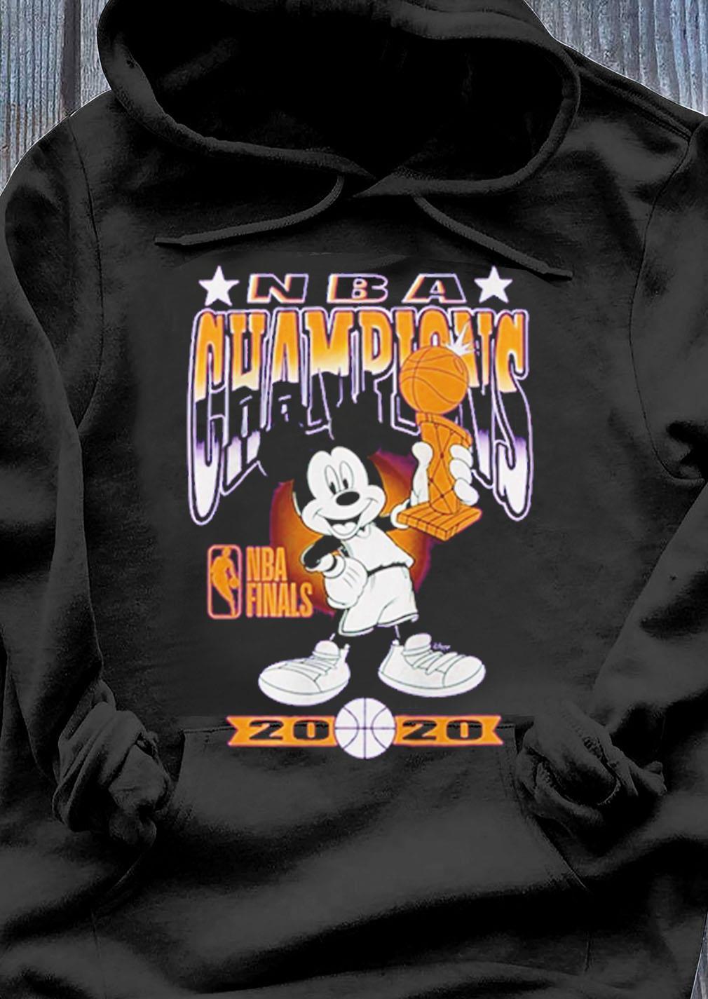Los Angeles Lakers Junk Food 2020 Nba Finals Champions Mickey Trophy Shirt Hoodie