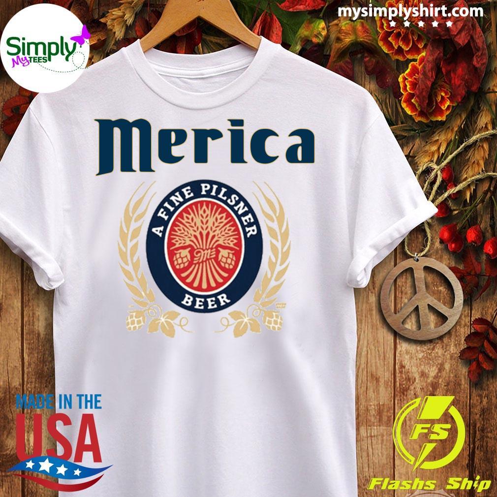 Merica A Fine Pilsner Beer Shirt Ladies tee