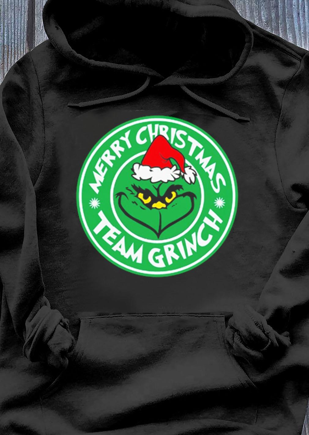 Merry Christmas Team Grinch Shirt Hoodie
